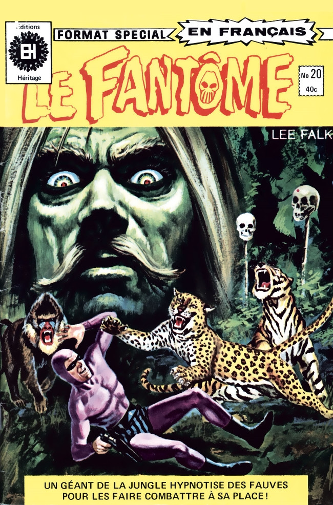Couverture de Le fantôme (Éditions Héritage) -20- Le géant d'or