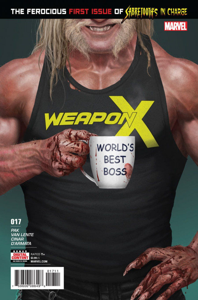 Couverture de Weapon X (2017) -17- Sabretooth's in Charge: Part One