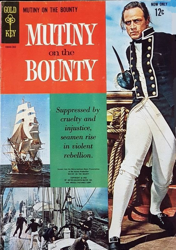 Couverture de Movie comics (Gold Key) -302- Mutiny on the Bounty