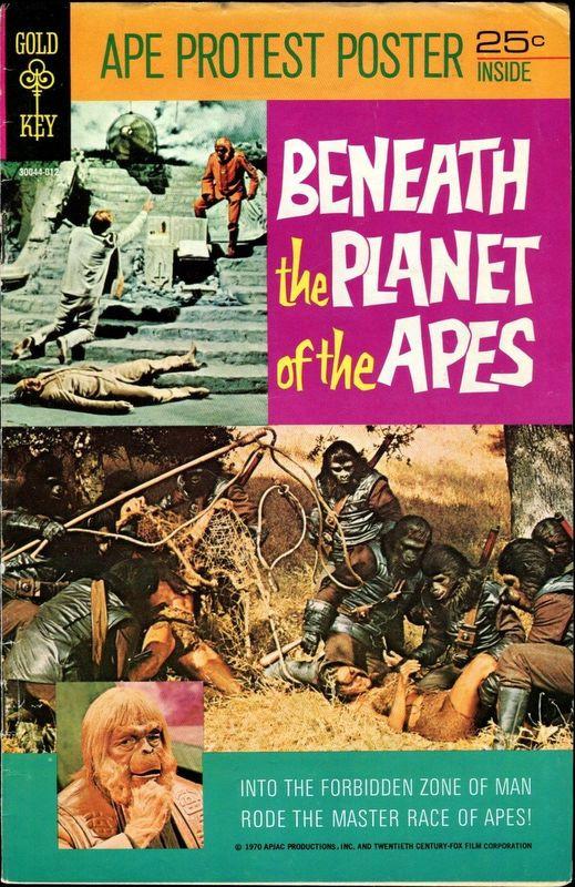 Couverture de Movie comics (Gold Key) -1012- Beneath the Planet of the Apes