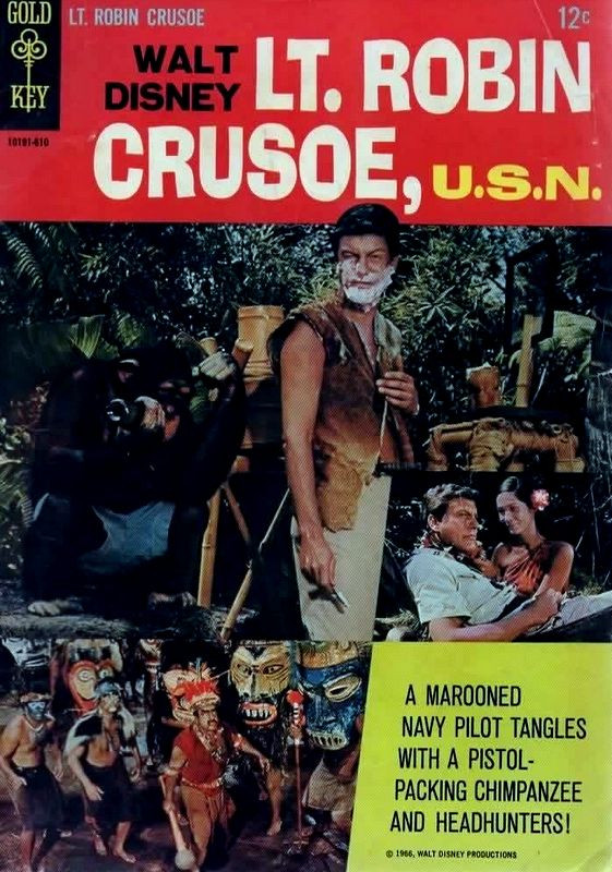 Couverture de Movie comics (Gold Key) -610- Lt. Robin Crusoe, U.S.N.