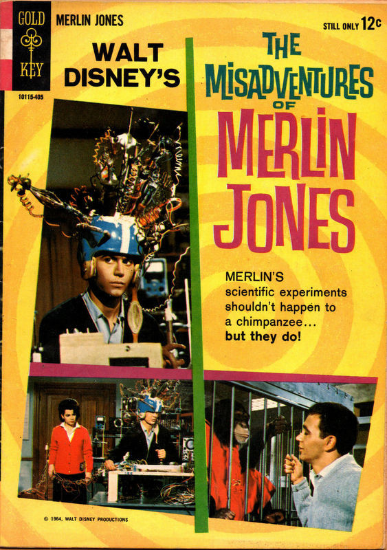Couverture de Movie comics (Gold Key) -405- The Misadventures of Merlin Jones