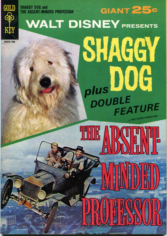 Couverture de Movie comics (Gold Key) -708- Shaggy Dog and The Absent-Minded Professor