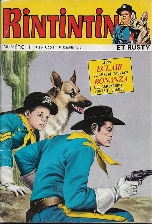 Couverture de Rin Tin Tin & Rusty (2e série) -111- Le fils du Général don Diègue