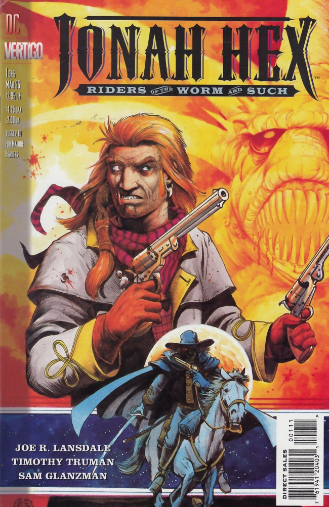 Couverture de Jonah Hex: Riders of the worm and such (1995) -1- No rest for the wicked and the good don't need any
