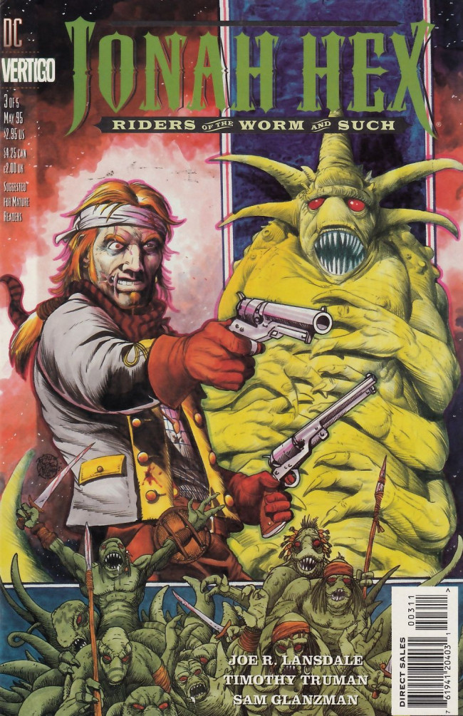 Couverture de Jonah Hex: Riders of the worm and such (1995) -3- Big worm