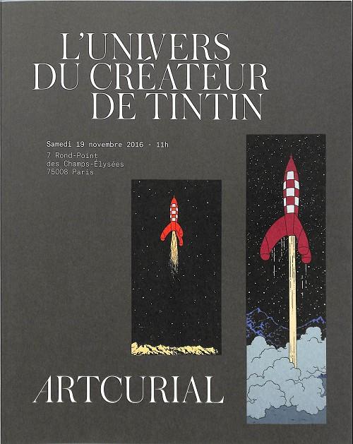 Couverture de (Catalogues) Ventes aux enchères - Artcurial - Artcurial - L'univers du créateur de Tintin - Samedi 19 novembre 2016 - Tome 2