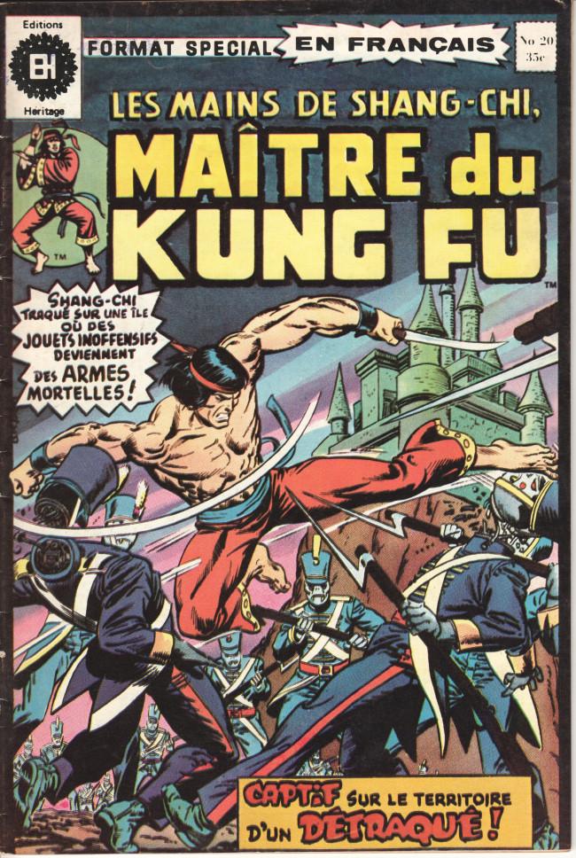 Couverture de Les mains de Shang-Chi, maître du Kung-Fu (Éditions Héritage) -20- Le cyclone au centre de la couronne d'un fou