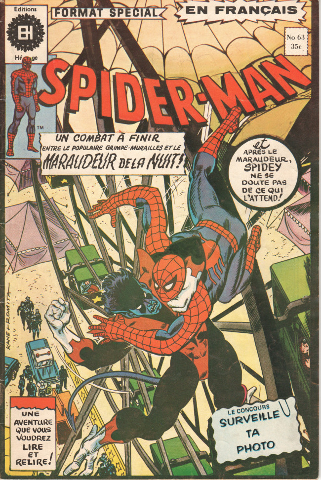 Couverture de L'Étonnant Spider-Man (Éditions Héritage) -63- Le grimpe-muraille rôdait toujours