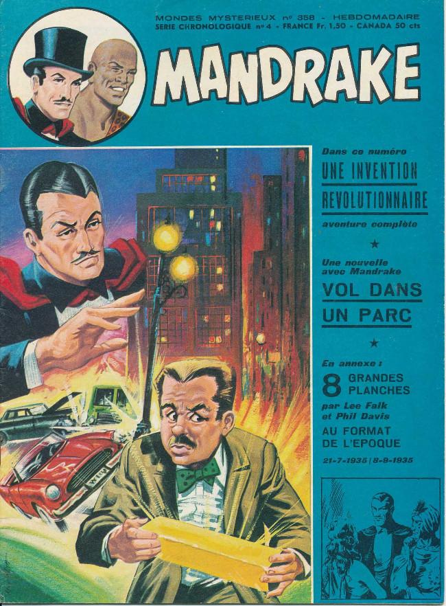 Couverture de Mandrake (1re Série - Remparts) (Mondes Mystérieux - 1) -358- Vol dans un parc
