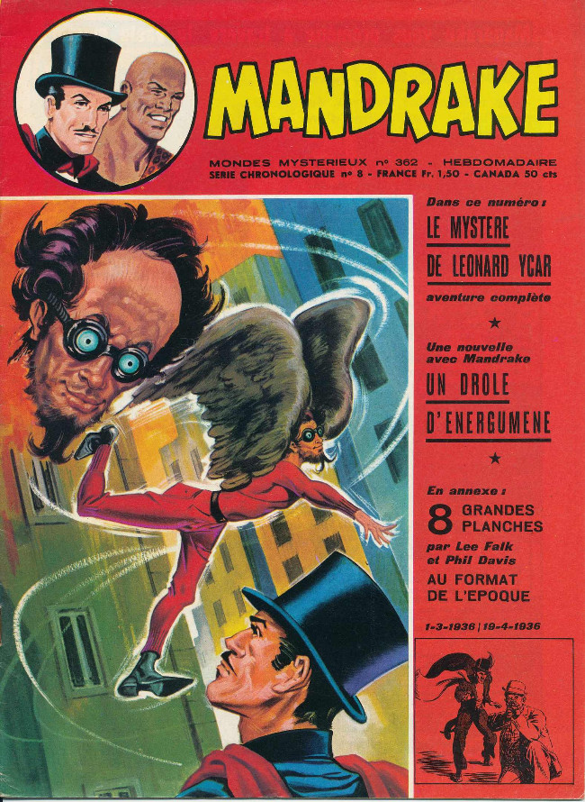 Couverture de Mandrake (1re Série - Remparts) (Mondes Mystérieux - 1) -362- Un drole d'énergumène