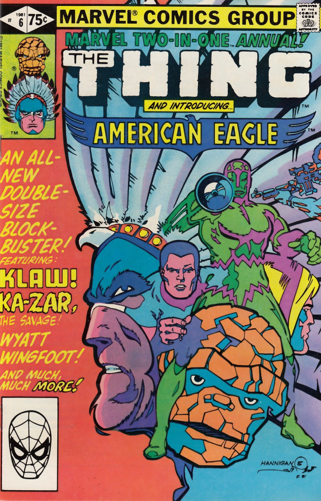 Couverture de Marvel Two-In-One (1974) -AN06- An Eagle From America!