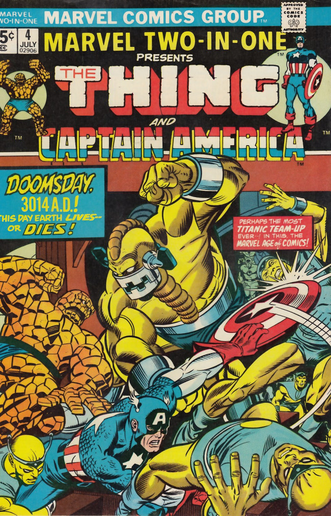 Couverture de Marvel Two-In-One (1974) -4- Doomsday 3014!