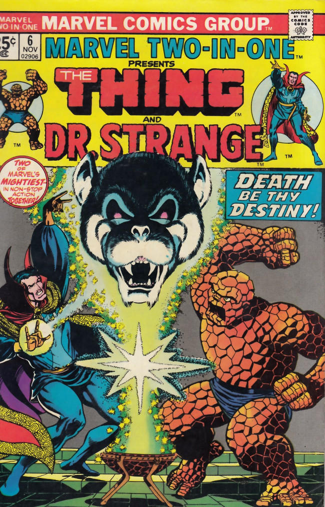 Couverture de Marvel Two-In-One (1974) -6- Death-Song of Destiny!