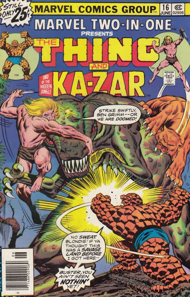 Couverture de Marvel Two-In-One (1974) -16- Into the Savage Land!