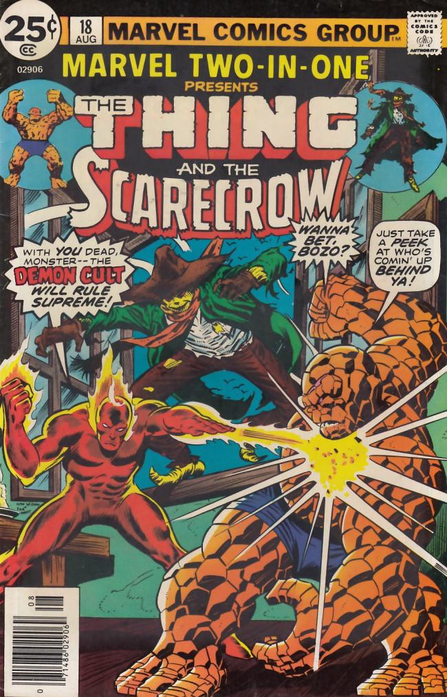 Couverture de Marvel Two-In-One (1974) -18- Dark, Dark Demon-Night!