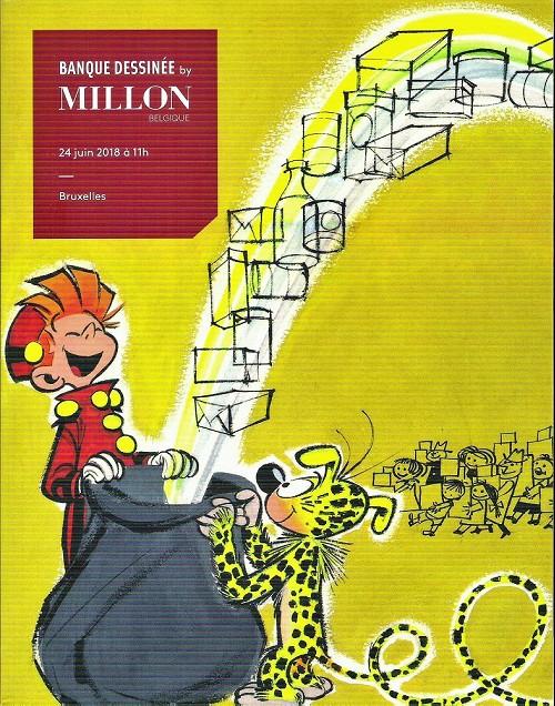 Couverture de (Catalogues) Ventes aux enchères - Millon - Millon - Bandes dessinées - 24 juin 2018 - Bruxelles
