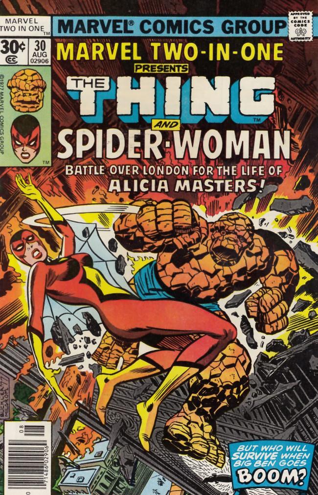 Couverture de Marvel Two-In-One (1974) -30- Battle Atop Big Ben!