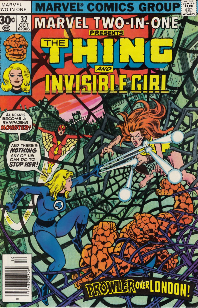 Couverture de Marvel Two-In-One (1974) -32- And Only the Invisible Girl Can Save Us Now!