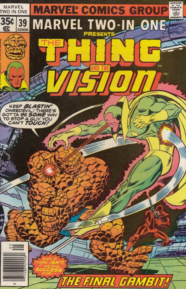 Couverture de Marvel Two-In-One (1974) -39- The Vision Gambit