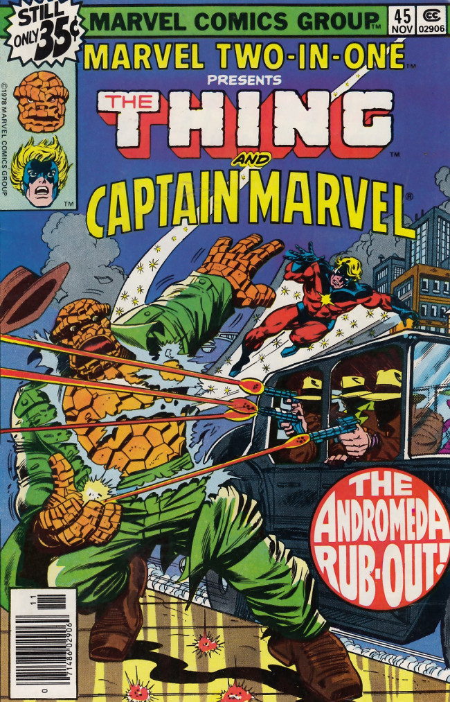 Couverture de Marvel Two-In-One (1974) -45- The Andromeda Rub-Out!