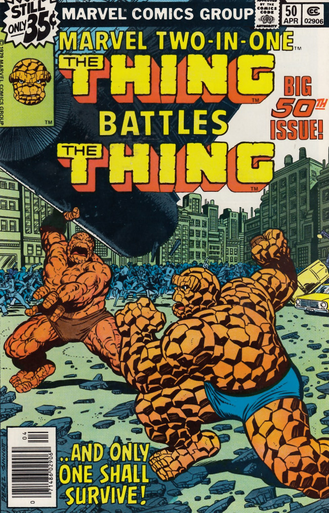 Couverture de Marvel Two-In-One (1974) -50- Remembrance of Things Past!