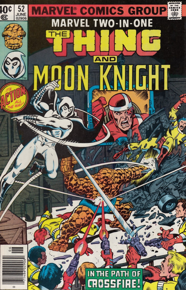 Couverture de Marvel Two-In-One (1974) -52- A Little Knight Music!