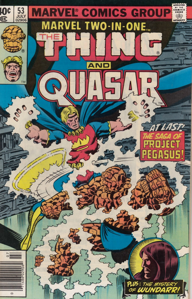 Couverture de Marvel Two-In-One (1974) -53- The Pegasus Project Part One The Inner War!