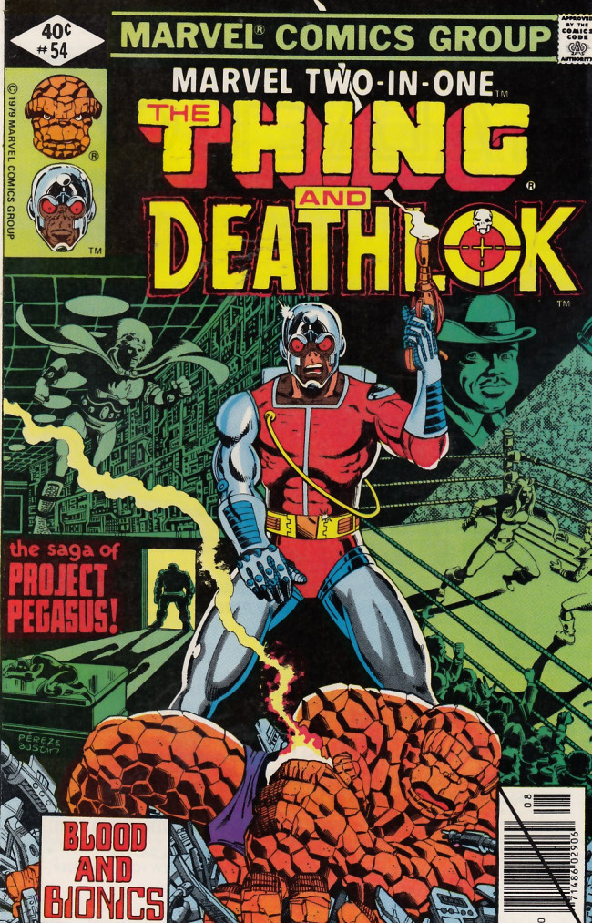 Couverture de Marvel Two-In-One (1974) -54- The Pegasus Project Part Two Blood and Bionics
