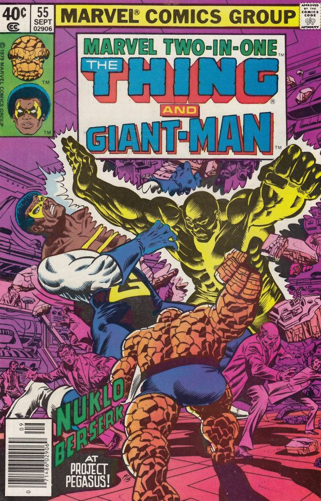 Couverture de Marvel Two-In-One (1974) -55- The Pegasus Project Part Three Giants in the Earth