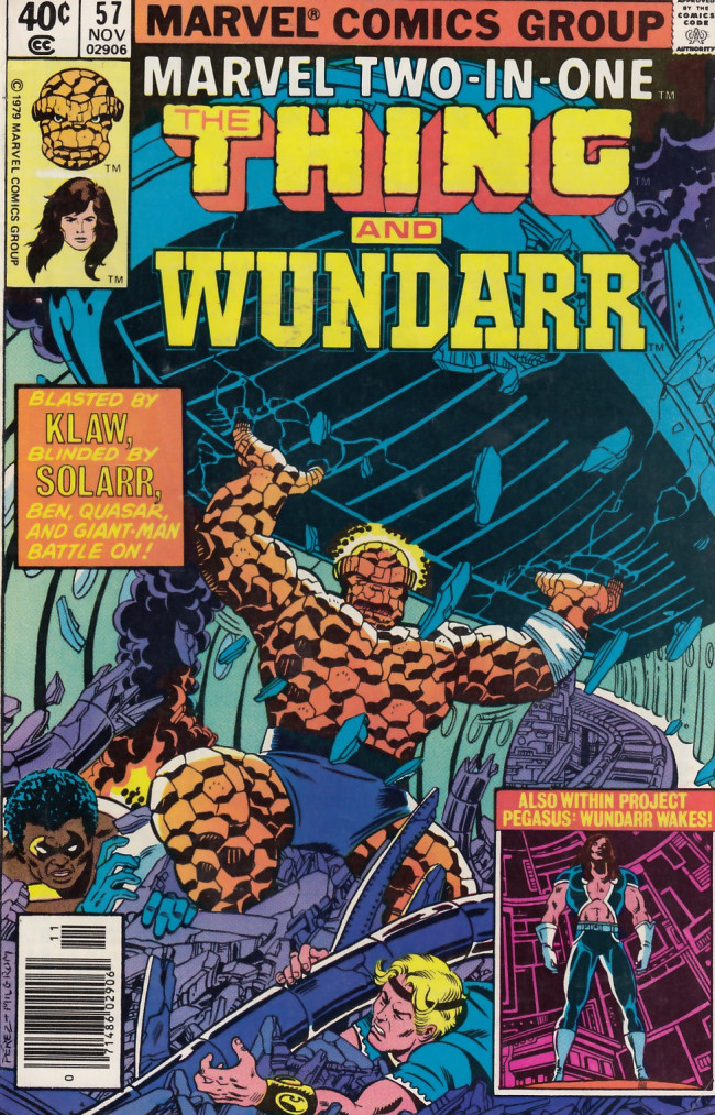 Couverture de Marvel Two-In-One (1974) -57- The Pegasus Project Part Five When Walks Wundarr!