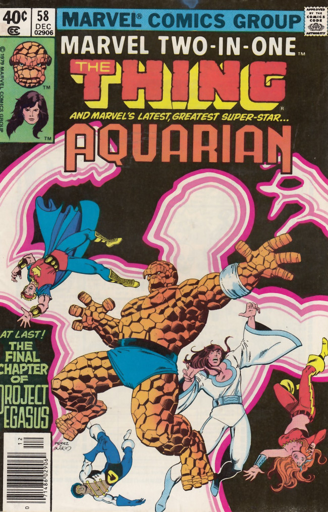 Couverture de Marvel Two-In-One (1974) -58- The Pegasus Project Part Six To the Nth Power!