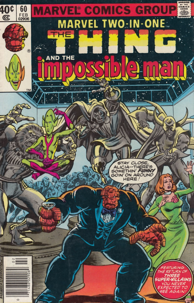 Couverture de Marvel Two-In-One (1974) -60- Happiness Is a Warm Alien!