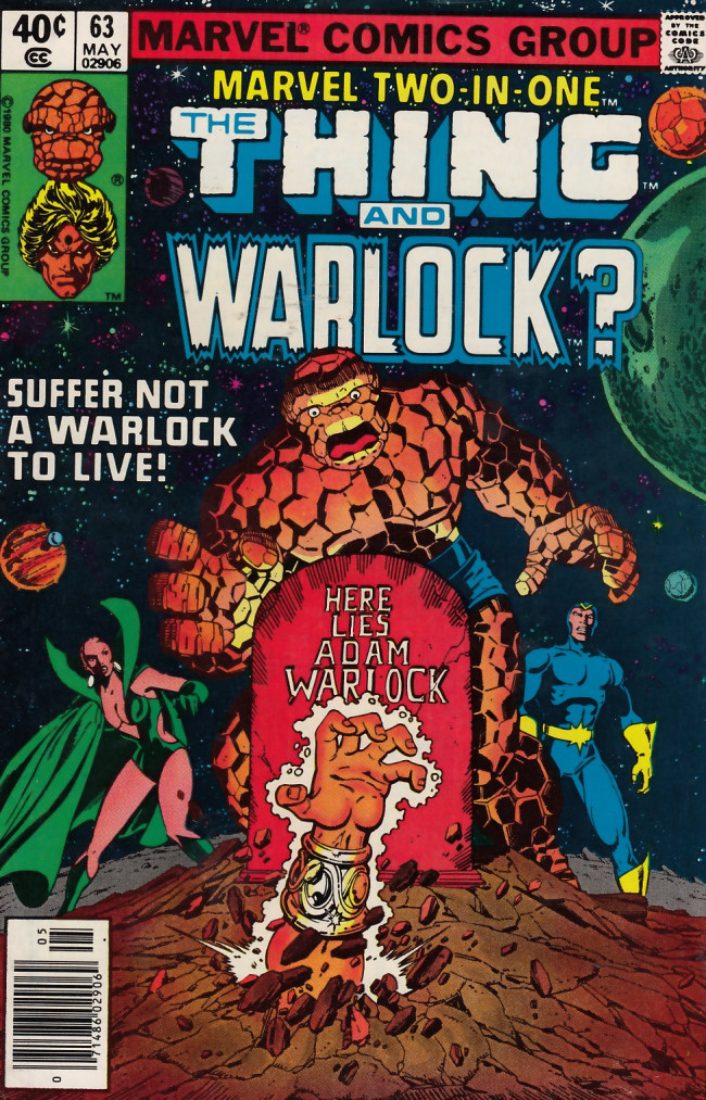 Couverture de Marvel Two-In-One (1974) -63- Suffer Not a Warlock to Live!