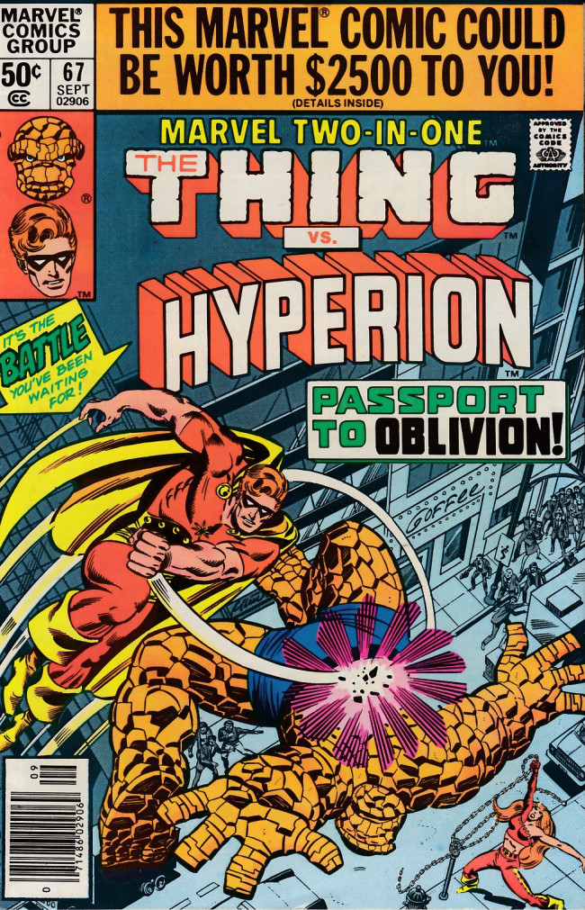 Couverture de Marvel Two-In-One (1974) -67- Passport to Oblivion!