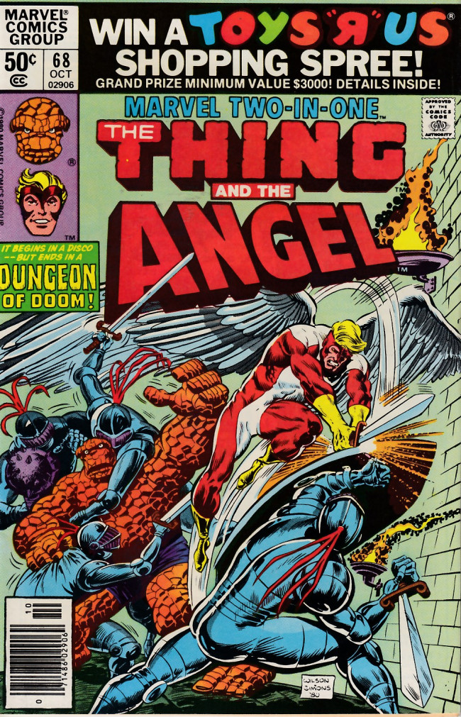 Couverture de Marvel Two-In-One (1974) -68- Discos and Dungeons!