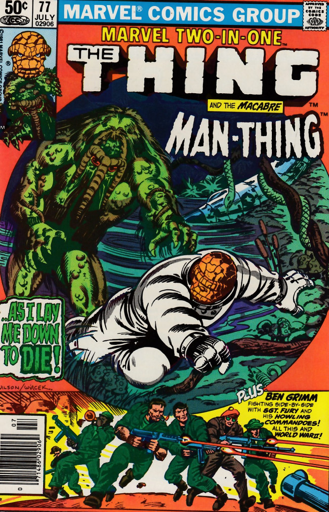 Couverture de Marvel Two-In-One (1974) -77- Only the Swamp Survives!