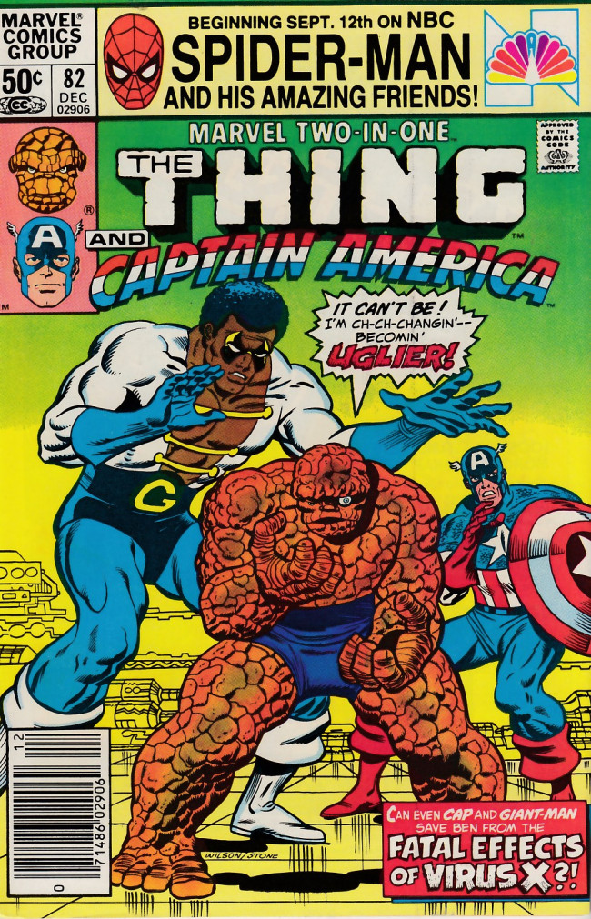 Couverture de Marvel Two-In-One (1974) -82- The Fatal Effects of Virus X!