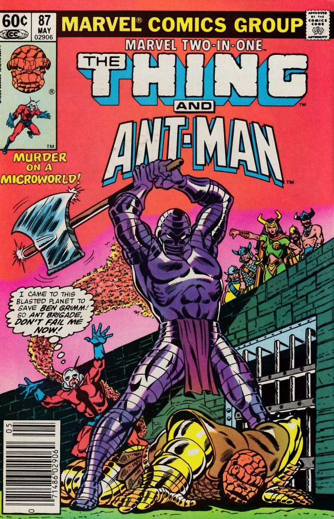 Couverture de Marvel Two-In-One (1974) -87- Menace of the Micro-World!