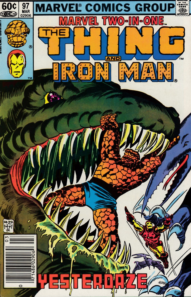 Couverture de Marvel Two-In-One (1974) -97- Yesterdaze
