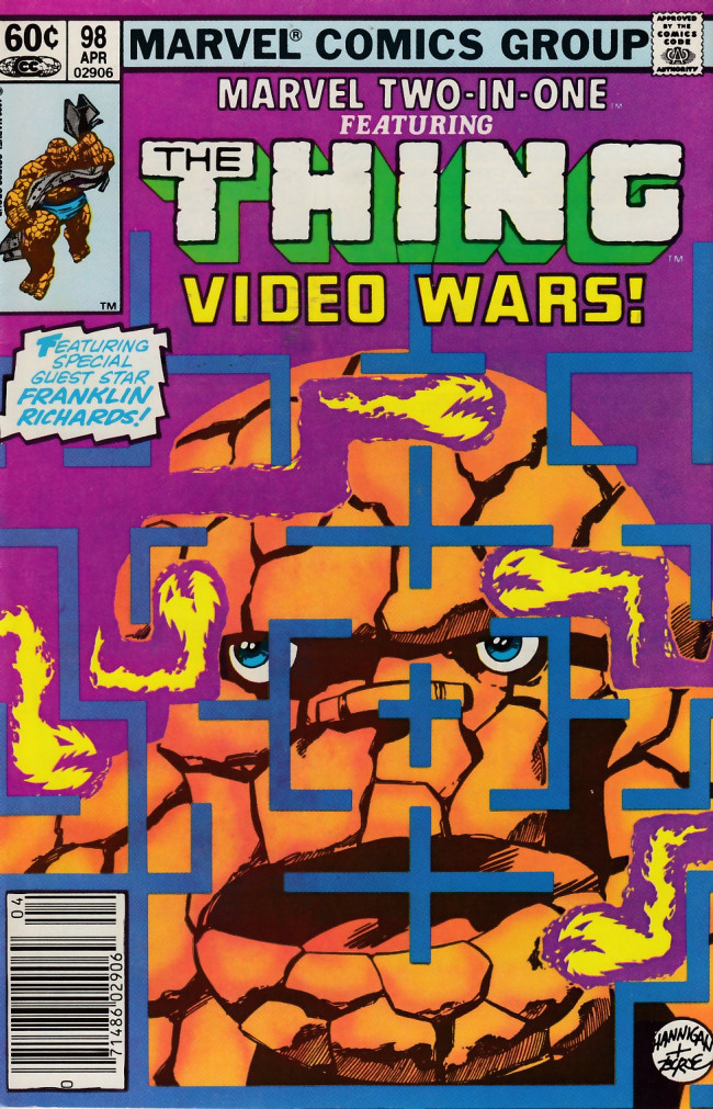 Couverture de Marvel Two-In-One (1974) -98- Vid Wars!
