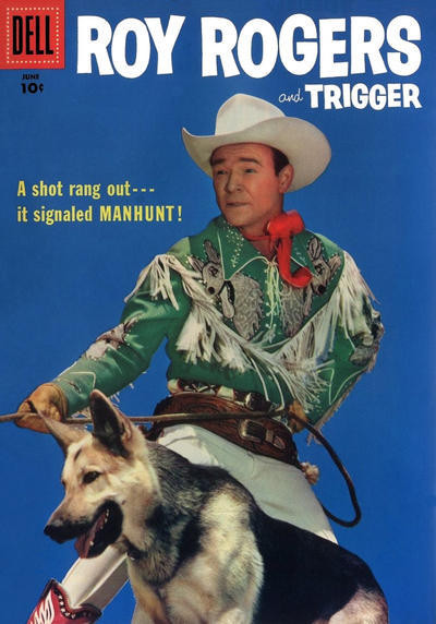 Couverture de Roy Rogers and Trigger (Dell - 1955) -114- Manhunt