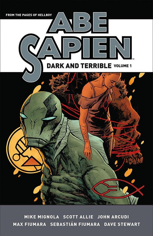 Couverture de Abe Sapien (2008) -INTHC1- Abe Sapien: Dark and Terrible Volume 1