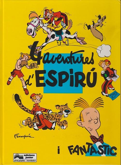 Couverture de Spirou et Fantasio (en langues régionales) -30Catalan- 4 aventures d'espirú i fantastic