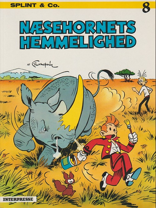 Couverture de Spirou et Fantasio (en danois) (Splint & Co.) -8a83- Næsehornets hemmelighed