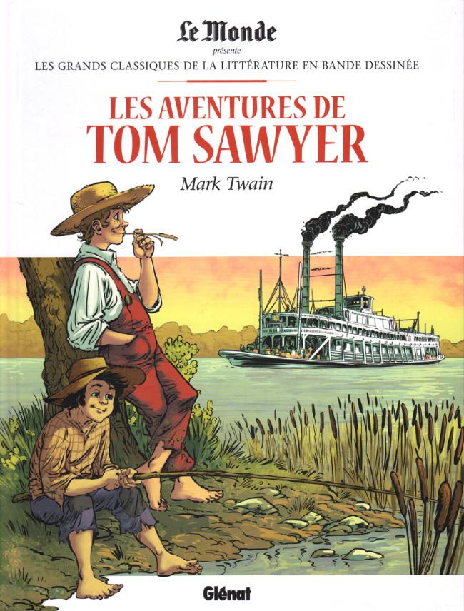 Couverture de Les grands Classiques de la littérature en bande dessinée (Glénat/Le Monde) -38- Les Aventures de Tom Sawyer