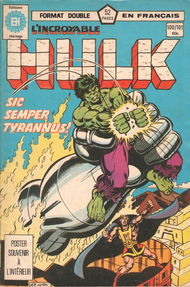 Couverture de L'incroyable Hulk (Éditions Héritage) -100101-