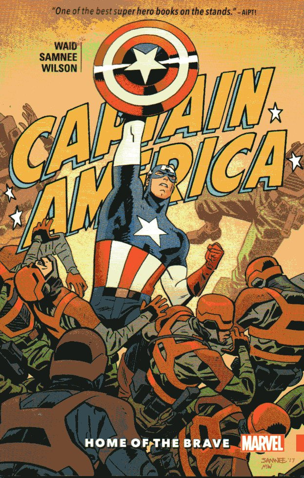 Couverture de Captain America (1968) -INT- Captain America by Waid & Samnee: Home of the Brave