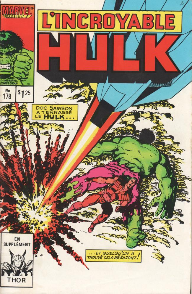 Couverture de L'incroyable Hulk (Éditions Héritage) -178- Batptême de feu