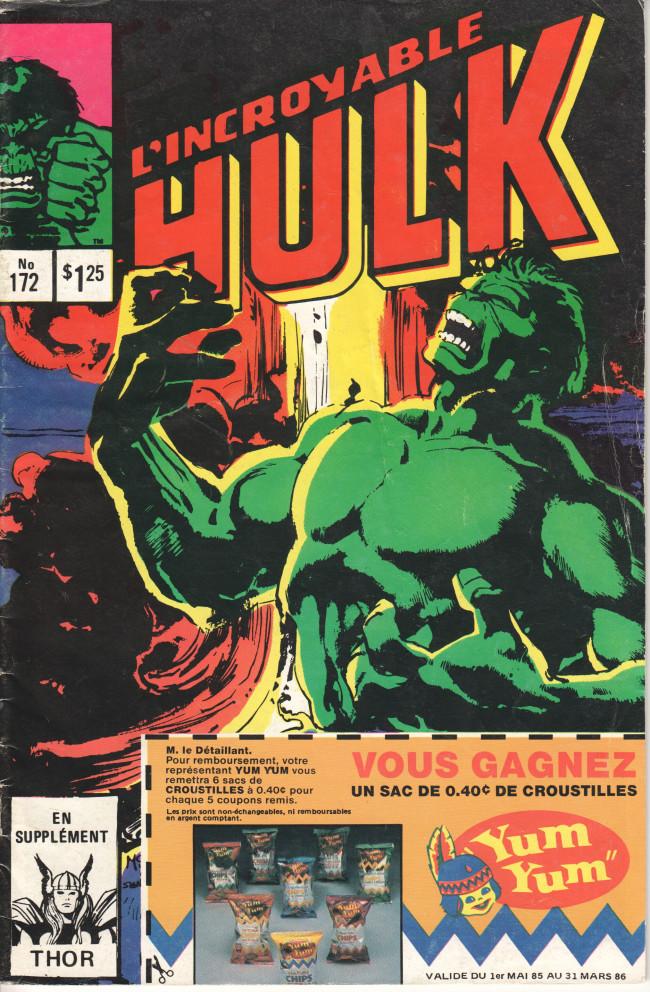 Couverture de L'incroyable Hulk (Éditions Héritage) -172- Monstre